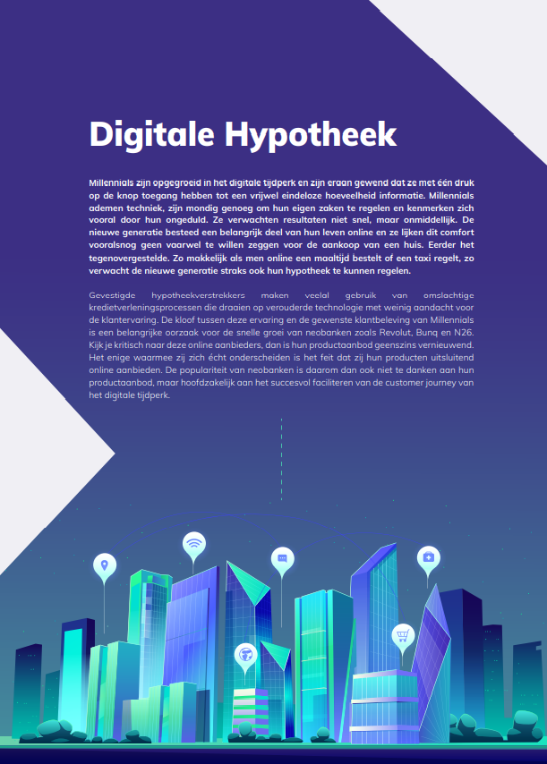 """Hyarchis Trends in Mortgage Tech pagina """"Digitale Hypotheek"""""""